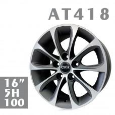 AT418 鋁圈 16吋7J 5孔 PCD100 鐵灰拋光
