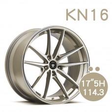 KN-16 鋁圈 17吋8J 5孔 PCD114.3 香檳金
